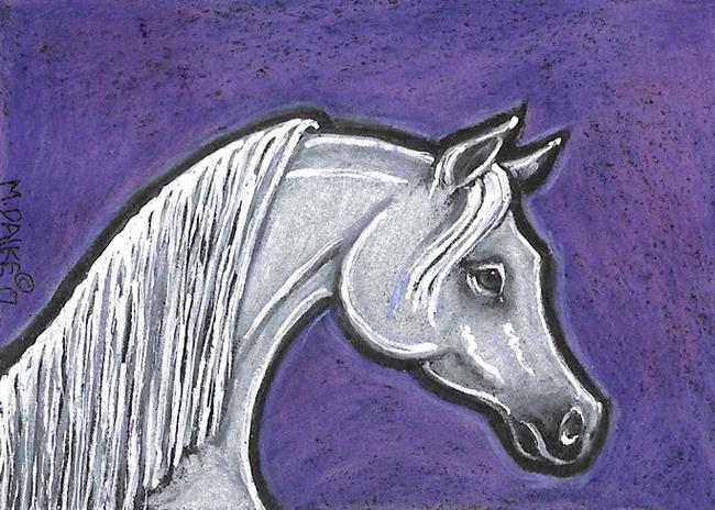 Art: Stallion and Purple by Artist Melinda Dalke