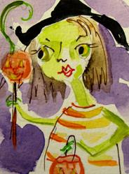 Art: Trick or Treat Witch by Artist Delilah Smith
