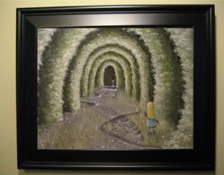 Art: 138 Alice Through the key hole1 by Artist J A Blackwell