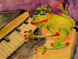 Art: Jazz Frog by Artist Delilah Smith