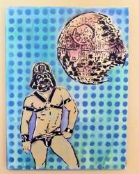 Art: Darth Vader Leather Jock by Artist Paul Lake, Lucky Studios