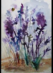 Art: Lavender Field by Artist Delilah Smith