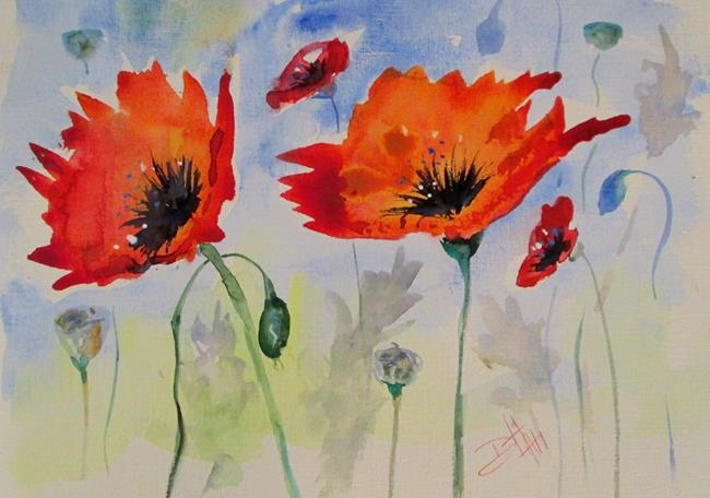 Art: Red Poppies by Artist Delilah Smith