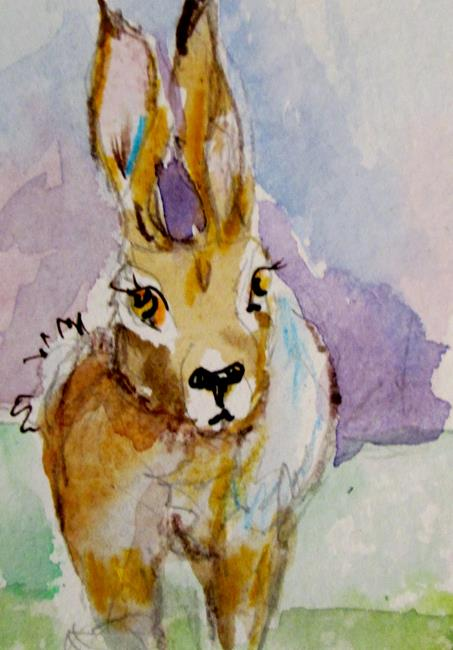 Art: Brown Rabbit-sold by Artist Delilah Smith
