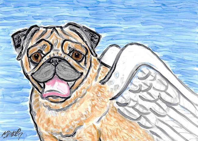 Art: Pug & Wings by Artist Melinda Dalke