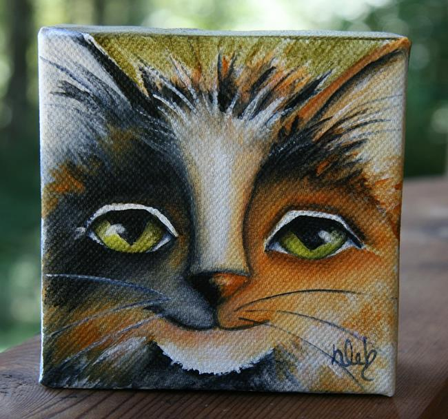 Art: Calicat by Artist Deb Harvey