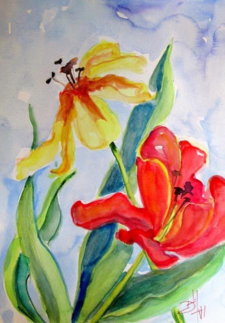 Art: April Flowers by Artist Delilah Smith
