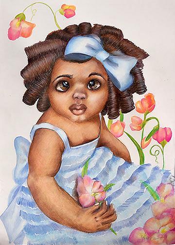 Art: Sweet Pea by Artist Alma Lee