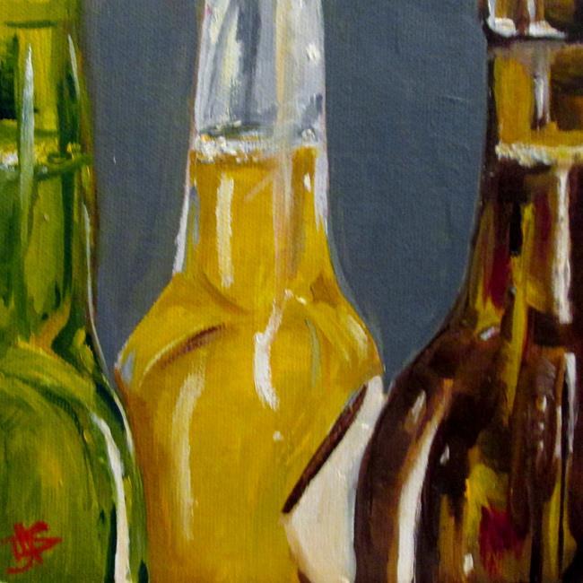 Art: Beer Bottles by Artist Delilah Smith
