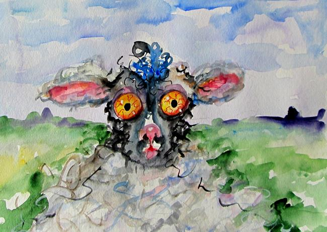 Art: Counting Sheep No. 2 by Artist Delilah Smith