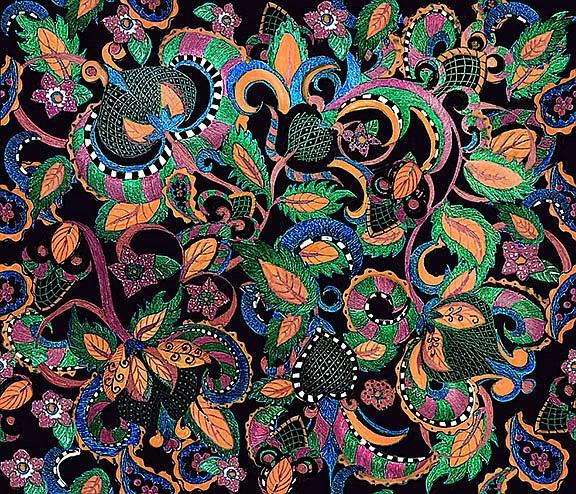 Art: Paisley pride by Artist Alma Lee