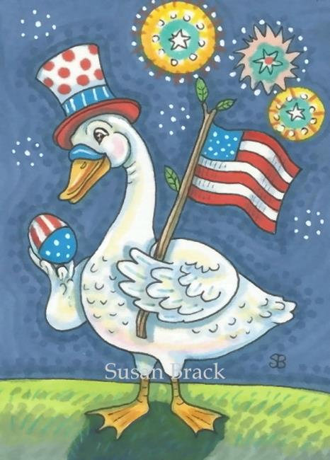 Art: BORN ON THE FOURTH OF JULY by Artist Susan Brack