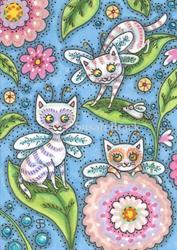 Art: CATTERFLIES HAVE LANDED by Artist Susan Brack