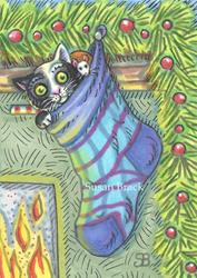 Art: CHRISTMAS KITTEN by Artist Susan Brack