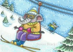 Art: DAY ON THE SLOPES by Artist Susan Brack