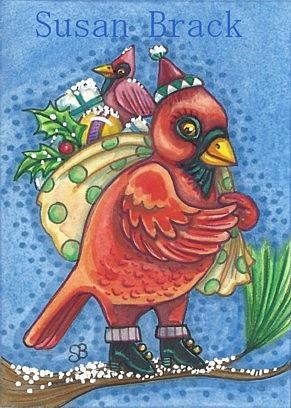 Art: DRESSED IN RED by Artist Susan Brack