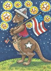 Art: FOURTH OF JULY ROOS by Artist Susan Brack