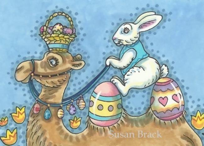 Art: EASTER CAMEL by Artist Susan Brack