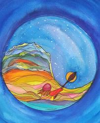 Art: Yin Yang #2 (sold) by Artist Kathy Crawshay