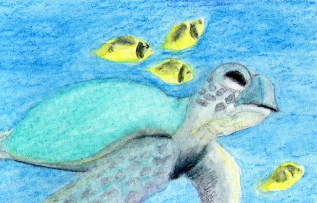 Art: Turtle in the Bay by Artist Pamela Godwin Manning