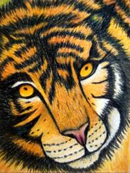 Art: Tasha the Tiger by Artist Pamela Godwin Manning