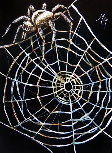Art: Spider & Web  (SOLD) by Artist Monique Morin Matson
