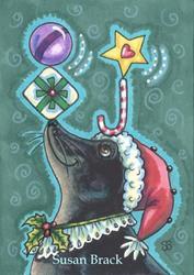 Art: A MERRY CHRISTMAS SEAL by Artist Susan Brack