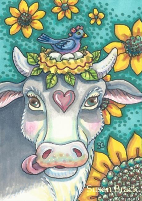 Art: COW PASTURE PARADISE by Artist Susan Brack
