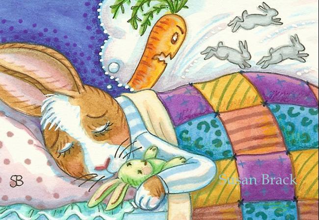 Art: BUNNY'S NIGHTMARE by Artist Susan Brack
