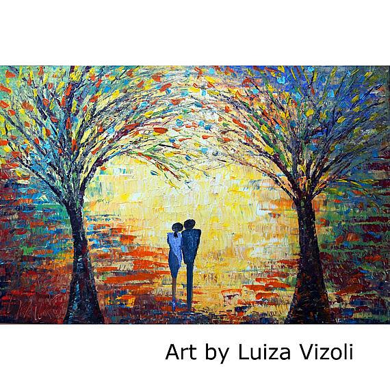 Art: SUNSET ROMANCE by Artist LUIZA VIZOLI