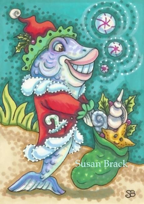 Art: FISH TALES OF CHRISTMAS by Artist Susan Brack