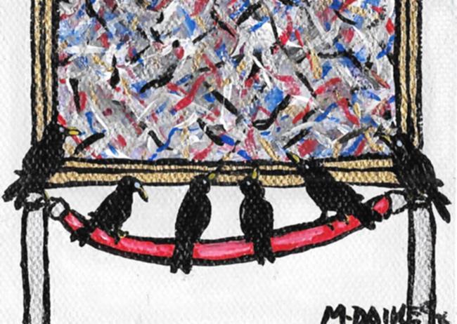 Art: How Many Black Birds did that Take by Artist Melinda Dalke