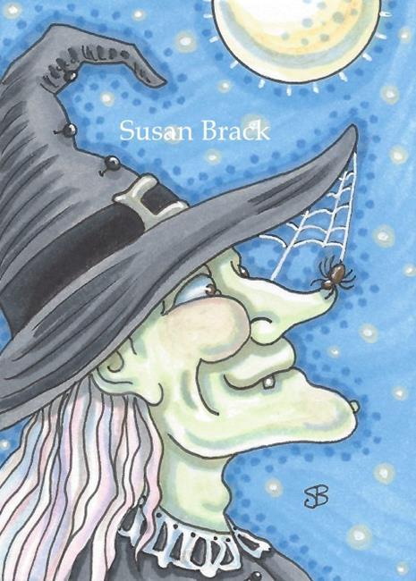 Art: NOSE SPIDER by Artist Susan Brack