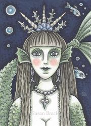 Art: BLACK SEA SIREN Goth Mermaid by Artist Susan Brack