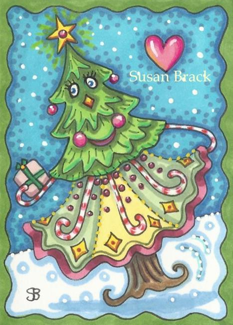 Art: DANCING CHRISTMAS TREE by Artist Susan Brack