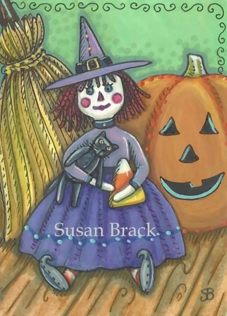 Art: LITTLE WITCH AND JACK by Artist Susan Brack