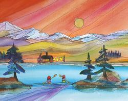 Art: Simple Pleasures by Artist Kathy Crawshay