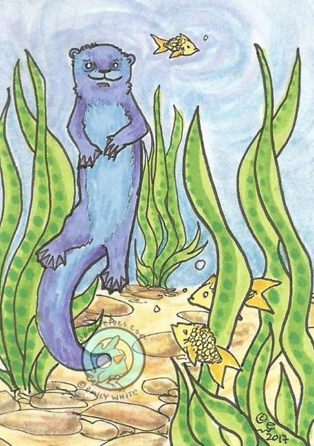 Art: Ol' Blue by Artist Emily J White
