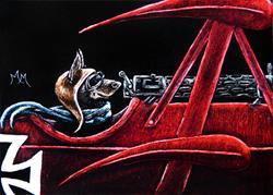 Art: Flying Ace  (SOLD) by Artist Monique Morin Matson
