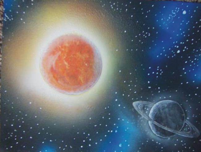 Art: Saturn by Leonard G. Collins by Artist Leonard G. Collins