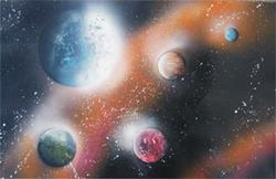 Art: Galaxy by Leonard G. Collins by Artist Leonard G. Collins
