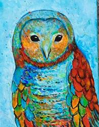 Art: Abstract Owl by Artist Ulrike 'Ricky' Martin