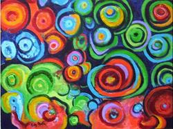 Art: Abstract Circles - Sold by Artist Ulrike 'Ricky' Martin
