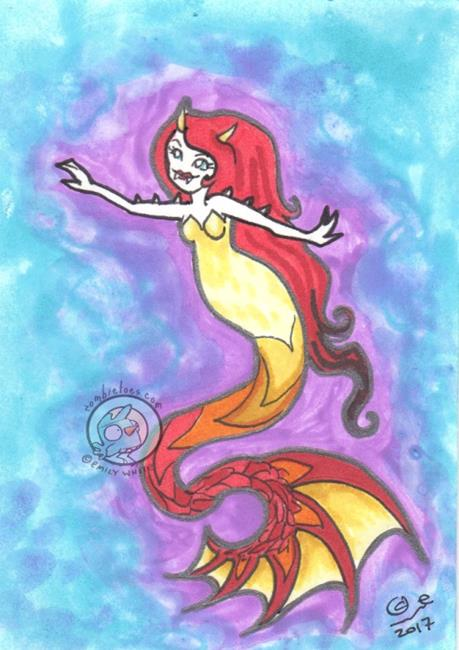 Art: Monica by Artist Emily J White
