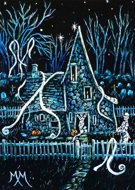 Art: Mr & Mrs Mummys House  (SOLD) by Artist Monique Morin Matson