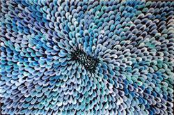 Art: Blue Daisy by Artist LUIZA VIZOLI