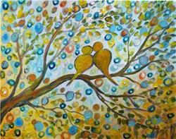 Art: FALL ROMANCE by Artist LUIZA VIZOLI