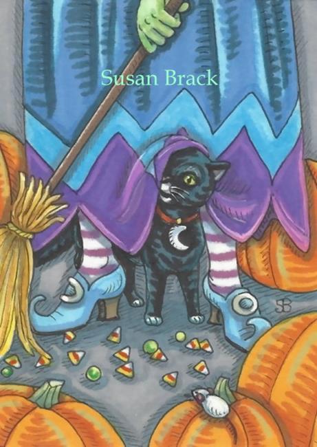 Art: CANDY CORN CLEAN UP by Artist Susan Brack