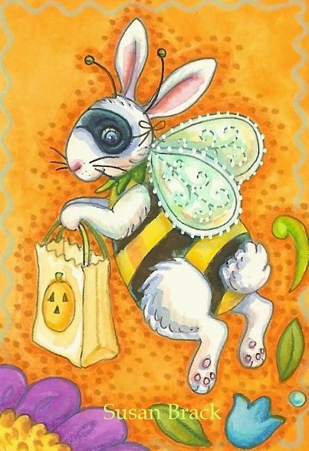 Art: BUZZ BUNNY BEE Trick Or Treat by Artist Susan Brack
