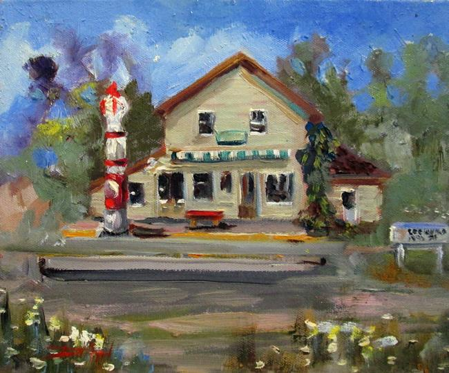 Art: Old Gas Station by Artist Delilah Smith